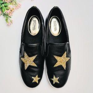 MICHAEL Michael Kors Shoes - Michael Kors Pia Glitter Star Slip On Trainers